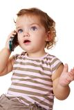 Talkative kid Stock Image
