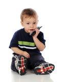 Talkative Tot Royalty Free Stock Image