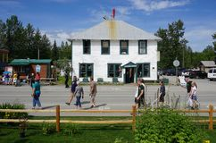 Talkeetna, Alaska. TALKEETNA, AK - The small town of Talkeetna, located in the Matanuska-Susitna borough, is a popular tourist destination in Alaska stock image
