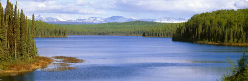 Talkeetna Lake. View of Talkeetna Lake in Alaska Stock Image