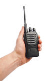 Talkie - walkie de radio portative à disposition Photo stock
