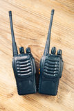 Talkie - walkie de radios portatives Photographie stock