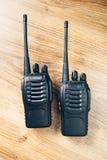 Talkie - walkie de radios portatives Photo libre de droits