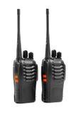 Talkie - walkie de radios portatives sur le blanc Photo stock