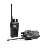 Talkie - walkie de radios portatives sur le blanc Images libres de droits