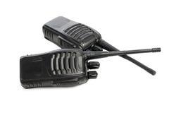 Talkie - walkie de radios portatives sur le blanc Image stock