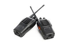 Talkie - walkie de radios portatives sur le blanc Photos stock