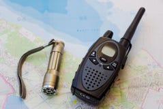 Talkie-walkie et torche Image libre de droits