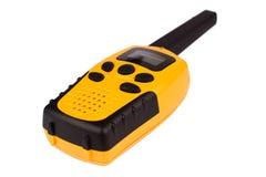 Talkie-walkie jaune d'isolement sur le blanc Photos libres de droits