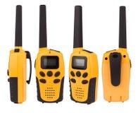 Talkie-walkie jaune d'isolement sur le blanc Images stock