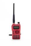 Talkie-walkie rouge photographie stock libre de droits