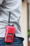 Talkie-walkie tenu dans la main pour extérieur Photos stock