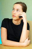 Talkin cell phone Stock Images