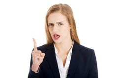 Talking angry businesswoman Royalty Free Stock Photography