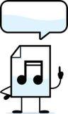 Talking Audio File. A cartoon illustration of an audio file talking Stock Photos