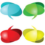 Talking balloons Stock Photo