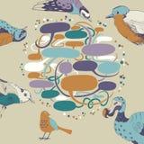 Talking Birds royalty free illustration
