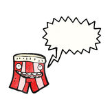 Talking boxer shorts cartoon Royalty Free Stock Photo