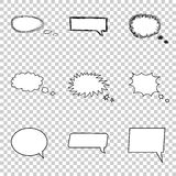 Talking bubble set. Comic style speech bubbles . Stock Images