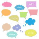 Talking bubbles. Multicolored talking bubble icons.vector illustration Stock Photography