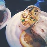 Talking burrito Royalty Free Stock Image