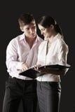 Talking business couple Stock Image