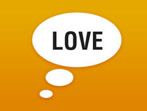 Talking button with love. Illustration Royalty Free Stock Photo