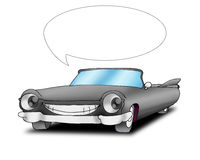 Talking cadillac car. Talking black cadillac car, isolated on a white background Royalty Free Stock Photography