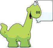 Talking Cartoon Apatosaurus Royalty Free Stock Photos