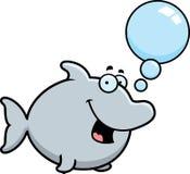 Talking Cartoon Dolphin Stock Photo