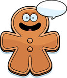 Talking Cartoon Gingerbread Man Stock Photography