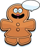 Talking Cartoon Gingerbread Woman Stock Photography
