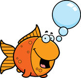 Talking Cartoon Goldfish Royalty Free Stock Photo