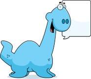 Talking Cartoon Plesiosaur Royalty Free Stock Image
