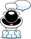 Talking Cartoon Poodle. A cartoon illustration of a poodle talking royalty free illustration