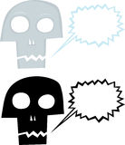 Talking Cartoon Skull Royalty Free Stock Image