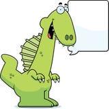 Talking Cartoon Spinosaurus Stock Photo