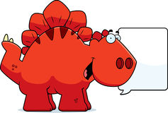 Talking Cartoon Stegosaurus Stock Photos