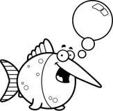 Talking Cartoon Swordfish Stock Image