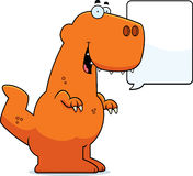 Talking Cartoon Tyrannosaurus Rex Stock Images