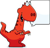 Talking Cartoon Velociraptor Royalty Free Stock Photos