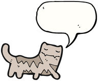 Talking cat cartoon Stock Photography