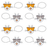 Talking cats seamless pattern. Royalty Free Stock Photography