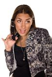 Talking on the cell phone Stock Image