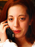 Talking on cell phone Stock Photo