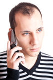 Talking on cellphone Royalty Free Stock Photography