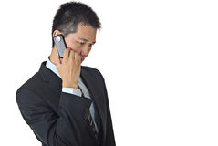 Talking on cellphone Royalty Free Stock Photo