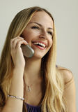 Talking on the cellphone Royalty Free Stock Images