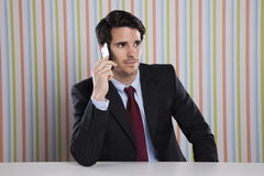 talking at the cellphone Royalty Free Stock Image