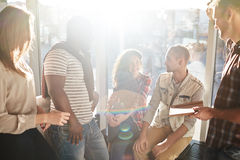 Talking after classes Stock Images